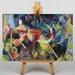 Big Box Art Deer in the Flower Garden by Franz Marc Art Print on Canvas