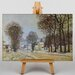 Big Box Art Snow at Louvecienne by Alfred Sisley Art Print on Canvas