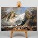 Big Box Art Fall of the Rhine by Joseph Mallord William Turner Art Print on Canvas