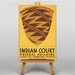 Big Box Art Indian Court No.7 Vintage Advertisement on Canvas