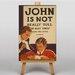 Big Box Art John is Not Really Dull Vintage Advertisement on Canvas
