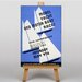 Big Box Art Model Yacht and Boat Races Typography on Canvas