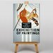Big Box Art Exhibition No.15 Vintage Advertisement on Canvas