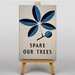 Big Box Art Spare Our Trees Vintage Graphic Art on Canvas