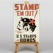 Big Box Art Stamp Em Out Vintage Advertisement on Canvas