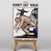 Big Box Art Don't Jay Walk Graphic Art on Canvas