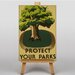 Big Box Art Protect Your Parks Vintage Advertisement on Canvas