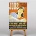 Big Box Art Jobs for Girls Vintage Advertisement on Canvas