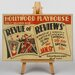 Big Box Art Revue of Reviews Vintage Advertisement on Canvas