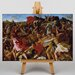 Big Box Art Victory of Joshua over the Amalekites by Nicolas Poussin Art Print on Canvas
