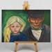 Big Box Art Old Man and Young Girl by Edvard Munch Art Print on Canvas