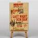 Big Box Art Last Night Don Juan Vintage Advertisement on Canvas