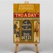 Big Box Art Two a Day Vintage Advertisement on Canvas