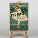 Big Box Art Up the Devil Vintage Advertisement on Canvas