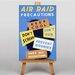 Big Box Art Air Raid Vintage Advertisement on Canvas