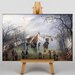 Big Box Art Landscape in Winter by Adriaen Van Ostade Art Print on Canvas