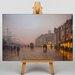 Big Box Art Street Scene by John Atkinson Grimshaw Art Print on Canvas