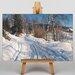 Big Box Art A Winter Path by Peder Mork Monstead Art Print on Canvas
