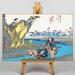 Big Box Art Japanese Oriental Okitsu by Utagawa Hiroshige Graphic Art on Canvas