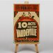 Big Box Art 10 Acts All Star Vaudeville Vintage Advertisement on Canvas