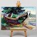 Big Box Art Indian War Canoe by Emily Carr Art Print on Canvas