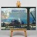 Big Box Art Blue Morning by George Bellows Art Print on Canvas