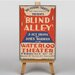 Big Box Art Blind Alley Vintage Advertisement on Canvas