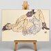 Big Box Art Woman Laying Down by Egon Schiele Art Print on Canvas