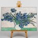 Big Box Art Iris Irises Flowers by Vincent Van Gogh Art Print on Canvas