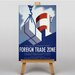 Big Box Art Foreign Trade Zone Vintage Advertisement on Canvas