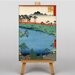 Big Box Art Japanese Oriental Shrine by Hiroshige Art Print on Canvas