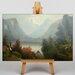 Big Box Art Hudson River by Jasper Francis Cropsey Art Print on Canvas