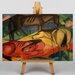Big Box Art Three Horses by Franz Marc Art Print on Canvas