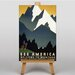 Big Box Art See America Montana Vintage Advertisement on Canvas
