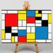 Big Box Art Style by Piet Mondrian Graphic Art on Canvas