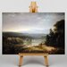 Big Box Art River View with Hunters and Dogs by Thomas Doughty Art Print on Canvas