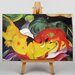 Big Box Art The Yellow Cow by Franz Marc Art Print on Canvas