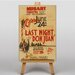 Big Box Art Last Night Don Juan Vintage Advertisement