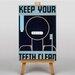 Big Box Art Keep Your Teeth Clean Vintage Advertisement
