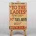 Big Box Art To The Ladies Typography