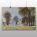 Big Box Art 'Snow at Louvecienne' by Alfred Sisley Art Print