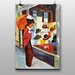 Big Box Art Woman Looking at Hat Shop by August Macke Art Print
