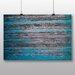 Big Box Art 'Blue Wood Texture' Photographic Print