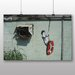 "Big Box Art ""Swinger Building Graffiti"" by Banksy Art Print Wrapped on Canvas"