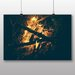 Big Box Art 'Campfire Embers No.1' Photographic Print