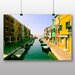 Big Box Art 'Colourful Canal Boats' Photographic Print