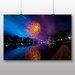 Big Box Art Fireworks at Night No.1 Photographic Print on Canvas