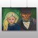Big Box Art 'Old Man and Young Girl' by Edvard Munch Art Print