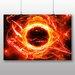 Big Box Art Fractal Abstract Sun Graphic Art