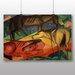 Big Box Art 'Three Horses' by Franz Marc Art Print